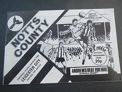 Notts County V Leicester      1979/0
