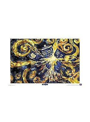 DOCTOR WHO POSTER Van Gogh Exploding TARDIS 24x36 SHRINK WRAPPED TV BBC Dr.