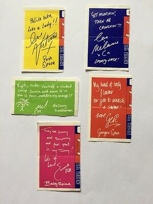 Spice Girls Walkers Crisps Autographs