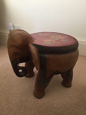 Wooden Elephant Foot Stool/ Seat