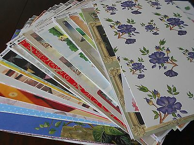 100 Assorted Topper And Background Sheets Card Making Clear Out