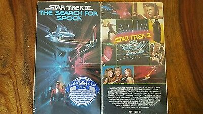 2 rare new sealed Star trek vhs - The wrath of khan + The search for spock
