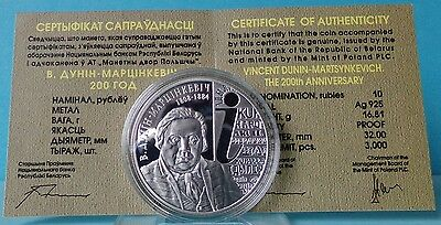 Belarus 10 Rubles  2008  Vincent Dunin–Martsynkevich. The 200th Anniversary