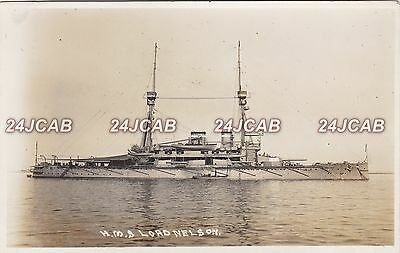 "Royal Navy Real Photo RPPC. HMS ""Lord Nelson"" Battleship. Dardanelles. 1912"