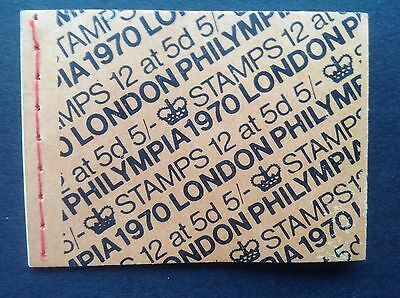 GB STAMPS 1970 PHILYMPIA QEII MNH STITCHED Stamp Booklet  5/- 12 X 5D