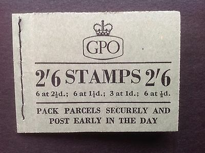 GB STAMPS 1955 February 2/6 Wildings Pre Decimal Booklet Pack and Post Early
