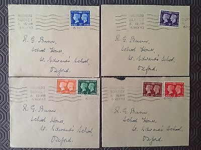GB Stamps Anniversary 6th May 1940 First Day Issue Full set on 4 covers