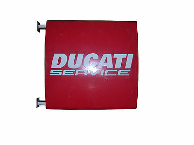 Rare Ducati Service Official Dealer Light Sign Two Sided Motorcycle 35,5""