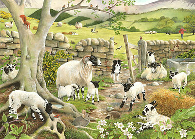 The House Of Puzzles 1000 PIECE JIGSAW PUZZLE - Hide & Seek Collie Dog and Sheep