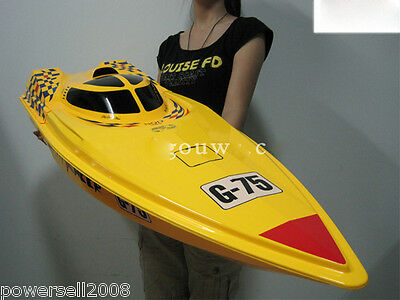 Yellow Length 115CM Remote Control Boat Speedboat Rowing Boat Model Gift Toys
