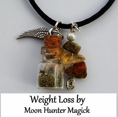 Weight Loss Spell Charm Bottle Necklace© 20+ Years Exp. Pagan Lot Wiccan Witch