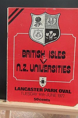 1977 Nz Juniors  V British Lions    Rugby Union