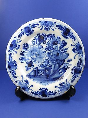 Antique 18th Century Delft Pottery Plate