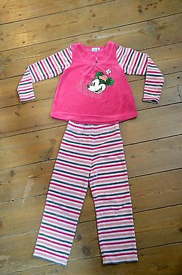 "Pyjama Rose Velours Fille Taille 5 ans ""Minnie"""