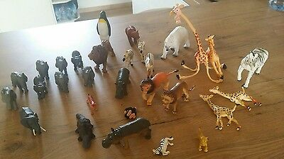 Lot de 30 figurines Animaux sauvages