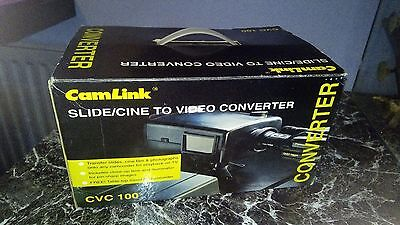 CamLink CVC100 Slide/Cine to Video Converter, boxed with instructions