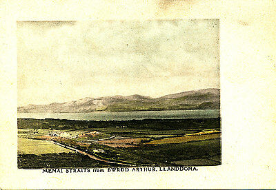 ANGLESEY - Early Postcard of Menai Straits from Bwrdd Arthur, Llanddona - Pre 19
