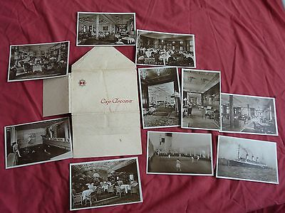 Set Of 10 German Hamburg Sud Line Ss Cap Arcona Postcards In Original Packet