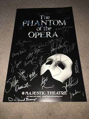 PHANTOM OF THE OPERA Cast Norm Lewis Signed Poster