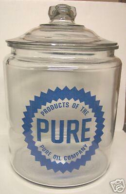 Very Nice Pure Gasoline Glass Counter Jar