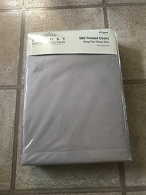 Brand New House Of Fraser Luxury 500 Thread Count King Size Flat Sheets