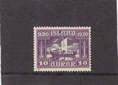 Postage stamps of Iceland, 1930 Parliament 10aur, 1 mint & 1 used overprint