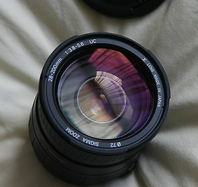 SIGMA ZOOM 28-200mm f/3.8-5.6 Canon EF Mount Camera Lens Beautiful Condition