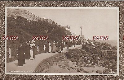Northern Ireland Real Photo. The Promenade, Portrush. Great Period clothes! 1910