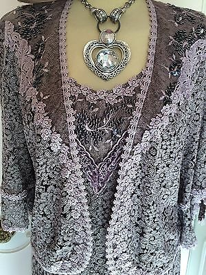 NEW ANN BALON LACE DRESS & JACKET SUIT WEDDING MOTHER OF THE BRIDE  Size 14 16