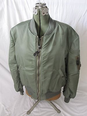 Vietnam US Air Force USAF MA-1 Flight Jacket - Size Large - Dated 1960