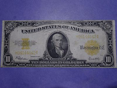$10 1922 Large Size Gold Certificate Ch. VF