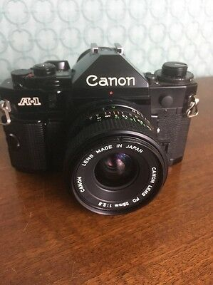 Vintage Canon A-1 35 mm Camera  with 28 mm with Canon Lens VGC