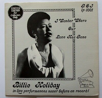 Limited edition Billie Holiday vinyl LP - I Wonder Where Our Love Has Gone