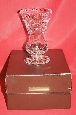 Lovely Webb Crystal Footed Posy Vase~11.5cm~BOXED
