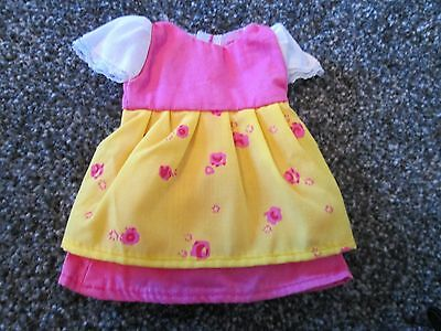 Angelina Ballerina Dress / Outfit - Pink And Yellow Flower Print Dress