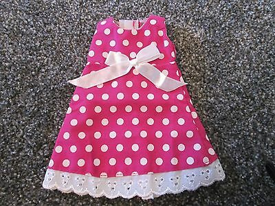 Angelina Ballerina Dress / Outfit - Pink And White Polka Dot Dress