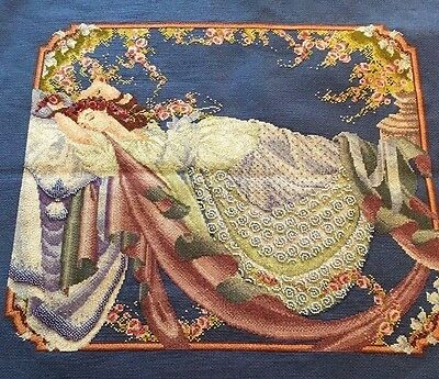 Mirabilia Designs Sleeping Beauty COMPLETED UNFRAMED COUNTED CROSS STITCH