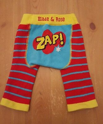 Blade and Rose Zap! Leggings  pants size 0 to 6 months Brightly coloured.