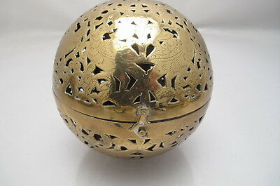 Antique Victorian  Pierced Brass Handwarmer
