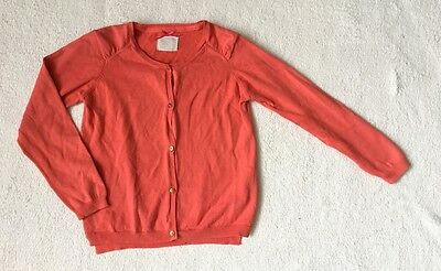 ***Zara girls Coral Pink cotton cardigan 5-6 years***