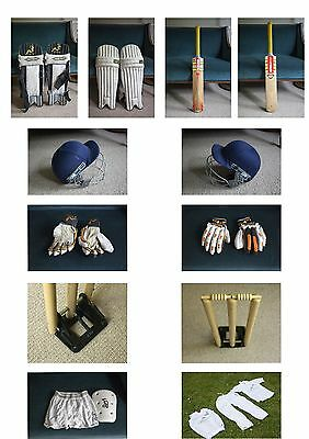 Left Hander Youth Cricket Bundle (bat, pads, gloves, wicket, helmet)