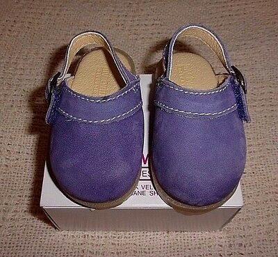 """My Twinn Authentic Purple Suede Clogs Shoes For 23"""" Poseable Dolls"""