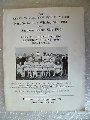 1961 Gerry Morgan Te-Kent Senior Cup Winning Side 1961 v Southern Leag Side 1965