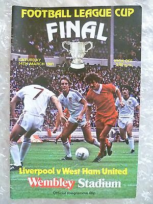 1981 League Cup FINAL - LIVERPOOL v WEST HAM UNITED, 14th March