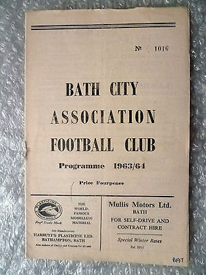 1963/64 Charlie Fleming's Testimonial Match BATH CITY v ALL STAR XI, 28 Sept