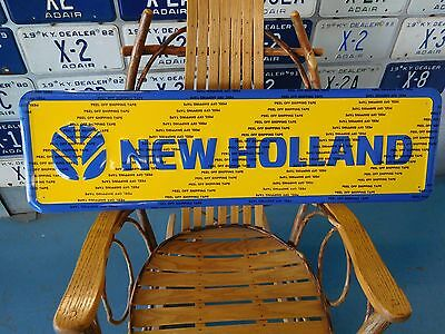 New Holland Tractors Farm Equipment Sign John Deere