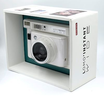 Lomo'Instant Wide Camera (White) w/ 90mm f/8 Lens and Built-In Flask - NEW
