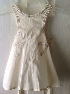 Antique 1940's little girls sun dress with ties.  Hand sewn