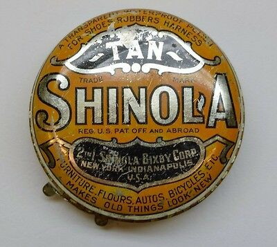 "Shinola Shoe Polish Tin - Tan 2 3/4"" wide"