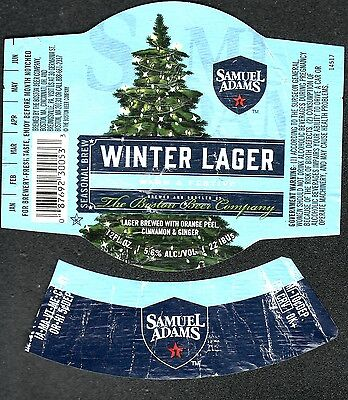 "BEER LABEL ""WINTER LAGER. SAMUEL ADAMS"" front and neck labels"